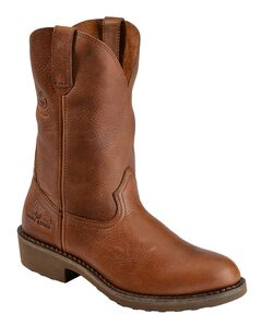 Georgia Boot Carbo Tec Wellington Pull-On Work Boots - Round Toe, , hi-res