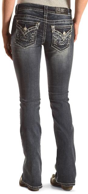 Miss Me Women's Triple Threat Boot Cut Jeans  , Blue, hi-res