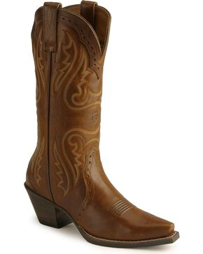 Ariat Heritage Western Cowgirl Boots - Snip Toe, Caramel, hi-res