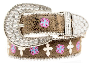 Blazin Roxx Multi Cross Belt, Brown, hi-res
