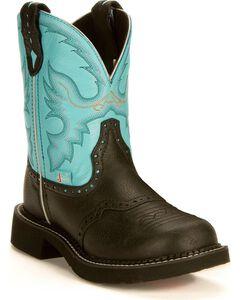 Justin Aqua Gypsy Boots, , hi-res