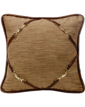 HiEnd Accents Highland Lodge Buckle Pillow, Multi, hi-res