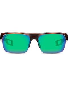 Hobie Men's Sea Green and Satin Brown Manta Polarized Sunglasses , , hi-res
