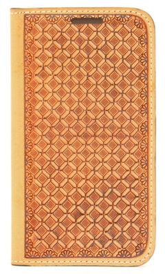 Nocona Leather Basketweave Galaxy S4 Case Wallet, , hi-res