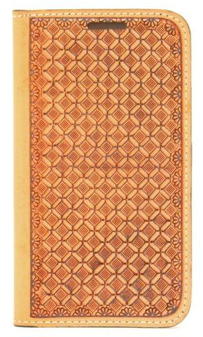 Nocona Leather Basketweave Galaxy S4 Case Wallet, Tan, hi-res