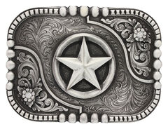 Montana Silversmiths Classic Impressions Lone Star Attitude Belt Buckle, , hi-res