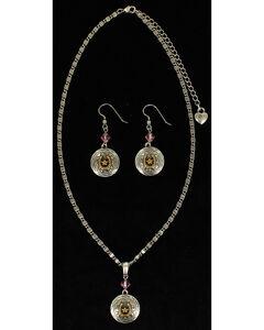 Lightning Ridge Round Horseshoe & Star Charm Necklace Set, , hi-res
