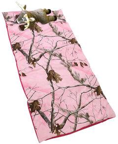 Carstens Home Realtree Pink Deer Pillow Slumber Bag, , hi-res