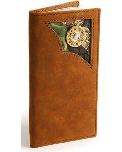 Nocona Boys' 12-Gauge Inlay Leather Wallet, , hi-res