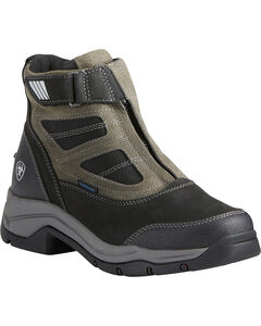 Ariat Women's Terrain Pro Zip H2O Black Waterproof Boots - Round Toe, , hi-res