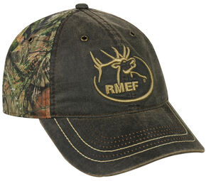 Rocky Mountain Elk Foundation Weathered Camo Cap , Camouflage, hi-res