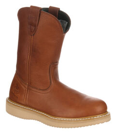Georgia Farm and Ranch Wellington Work Boots - Round Toe, , hi-res