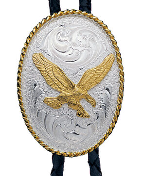 Montana Silversmiths Eagle Bolo Tie, Multi, hi-res
