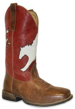 Roper Boys' Broc Rider Inlay Boot - Wide Square Toe, , hi-res
