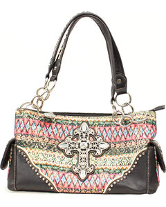 Blazin Roxx Southwest Cross Satchel, , hi-res