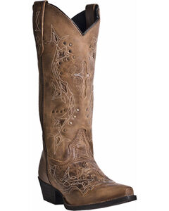 Laredo Cross Point Cowgirl Boots - Snip Toe, , hi-res