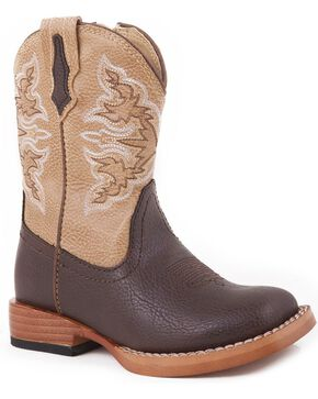 Roper Toddlers' Tan Cowboy Boots, Brown, hi-res