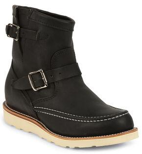 Chippewa Men's Odessa Suburban Highlander Boots - Moc Toe, Black, hi-res