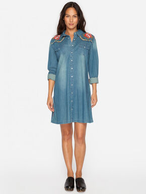 3J Workshop Denim Margo Western Tunic, Indigo, hi-res