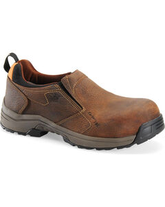 Carolina Men's Brown Lightweight ESD Slip-On Shoes - Carbon Composite Toe, , hi-res