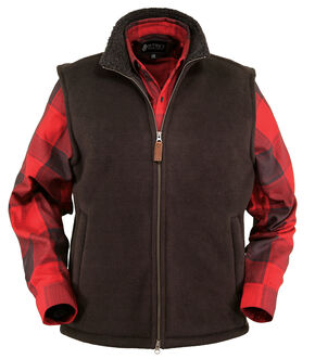 Outback Trading Company Men's Summit Fleece Vest, Brown, hi-res