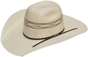 Twister Men's Bangora Straw Cowboy Hat, Ivory, hi-res