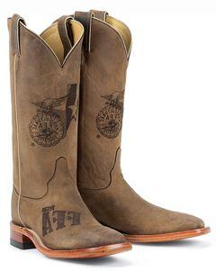 Justin Texas FFA Future Farmers of America Boots - Square Toe, , hi-res