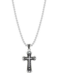Montana Silversmiths Bead and Flourish Cross Necklace, , hi-res