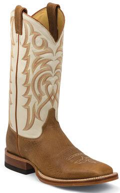 Justin Cognac Delta Cowboy Boots - Square Toe, , hi-res