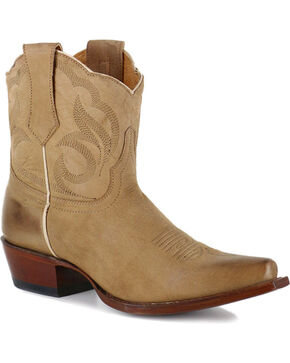 Shyanne Women's Western Booties - Snip Toe, Tan, hi-res