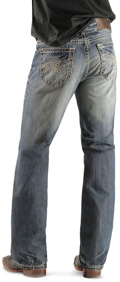 Rock & Roll Cowboy Double Barrel Abstract Pocket Jeans - Boot Cut, Light Navy, hi-res