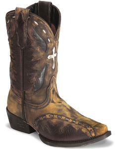 Dan Post Youth Boys' Vintage Cross Inlay Cowboy Boots - Snip Toe, , hi-res