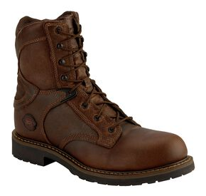 "Justin Rugged Utah 8"" Lace-Up Boots - Composition Toe, Chocolate, hi-res"