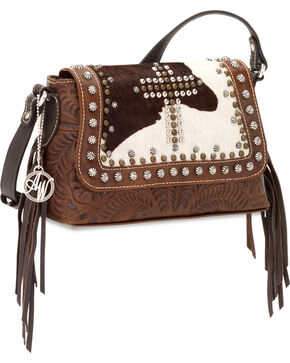 American West Women's Home on the Range Crossbody Bag, Multi, hi-res