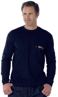 Cinch Navy Flame Resistant Long Sleeve Work Shirt, , hi-res