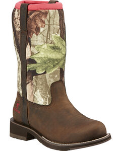 Ariat Fatbaby All-Weather Camo Cowgirl Boots - Round Toe, , hi-res
