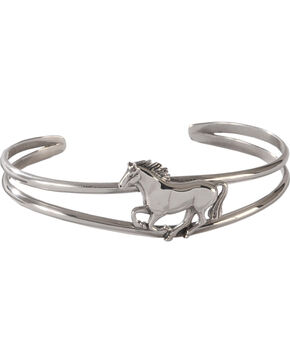 Silver Legends Women's Sterling Silver Running Horse Bracelet , Silver, hi-res