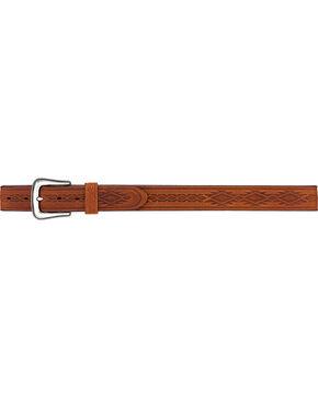 Tony Lama Men's Navajo Blanket Tooled Belt , Brown, hi-res