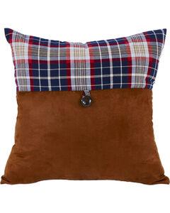 HiEnd Accents South Haven Blue Plaid Envelope Throw Pillow, , hi-res