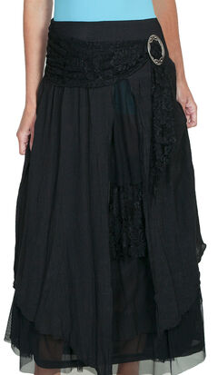 Scully Women's Linen & Lace Maxi Skirt, , hi-res