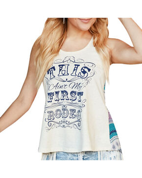 Shyanne Women's Ain't My First Rodeo Graphic Tank, Ivory, hi-res