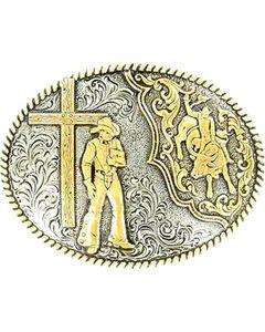 Crumrine Bull Rider & Cross Cowboy Buckle, , hi-res