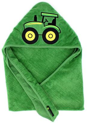 John Deere Infant Boys' Green Tractor Hooded Towel, Green, hi-res