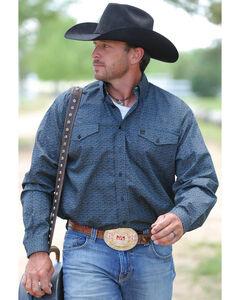 Cinch Men's Black Long Sleeve Plain Weave Button Down Shirt , , hi-res