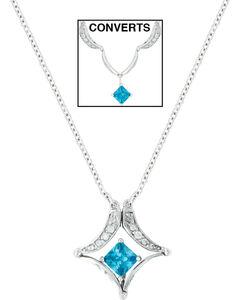 Montana Silversmiths Convertible Blue Diamond River Lights Necklace, , hi-res