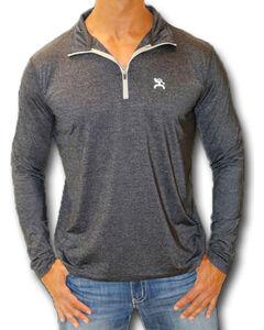 Hooey Men's Black 1/4 Zip Performance Golf Pullover , , hi-res
