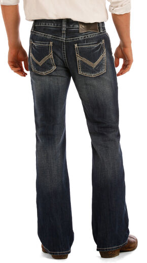 Rock & Roll Cowboy Men's Indigo Pistol Flat Seam Jeans - Boot Cut , Indigo, hi-res