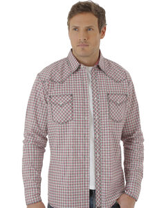 Wrangler Men's White, Red and Black Plaid 20X Western Shirt, , hi-res