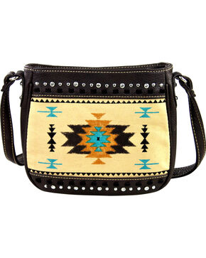 Montana West Aztec Messenger Bag, Cafe, hi-res