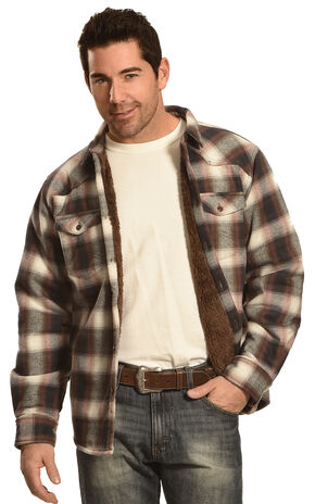 Cody James Men's Brown Plaid Flannel Shirt, Brown, hi-res
